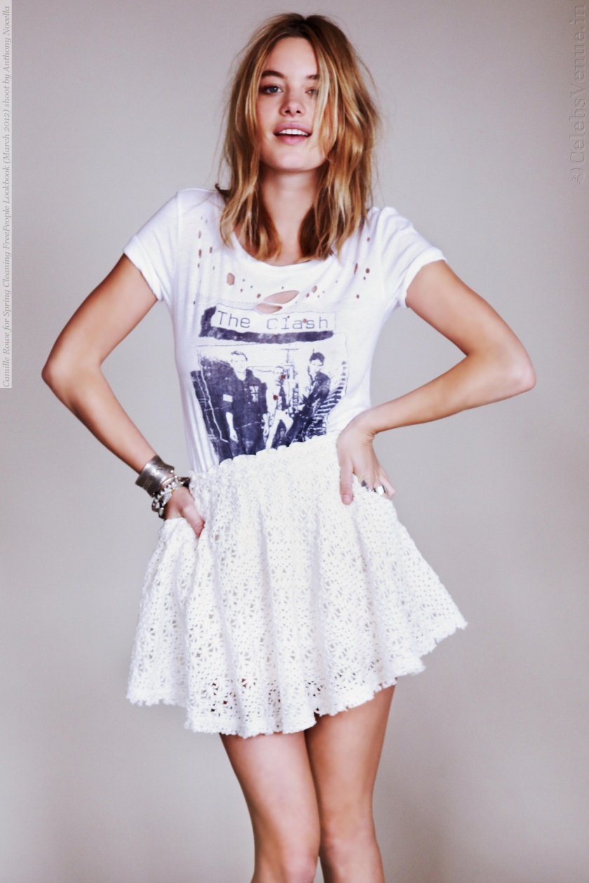 Camille Rowe for Spring Cleaning FreePeople Lookbook (March 2012) shoot by Anthony Nocella